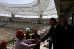 الوزير حطاب يتفقد سير أشغال ملعب براقي