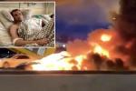 شاهد.. لحظة انفجار سيارة كهربائية وكيف نجا الركاب منها