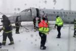فيديو لحظة الرعب.. فقَد السيطرة على طائرة لحظة هبوطها في شيكاغو