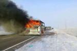 52 قتيلا بحريق طال حافلة في كازاخستان
