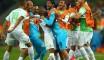 فرحة لاعبي المنتخب الوطني بالفوز التاريخي